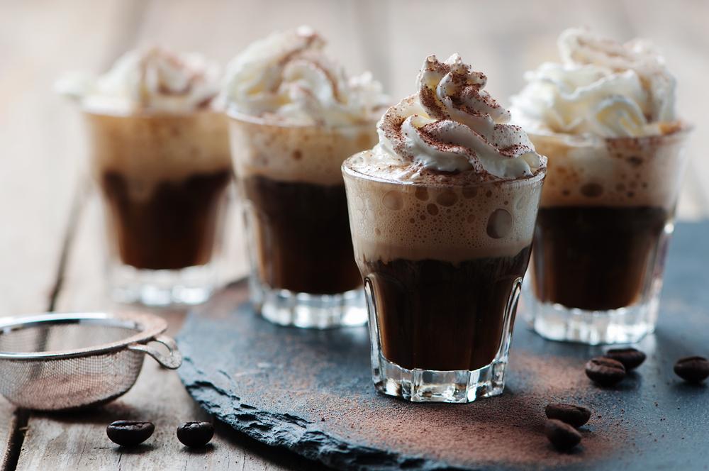 coctails met warme chocolademelk