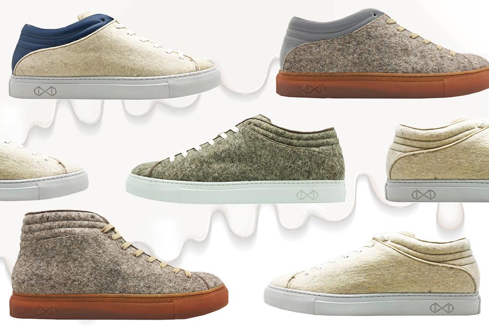 Sneakers van melkafval
