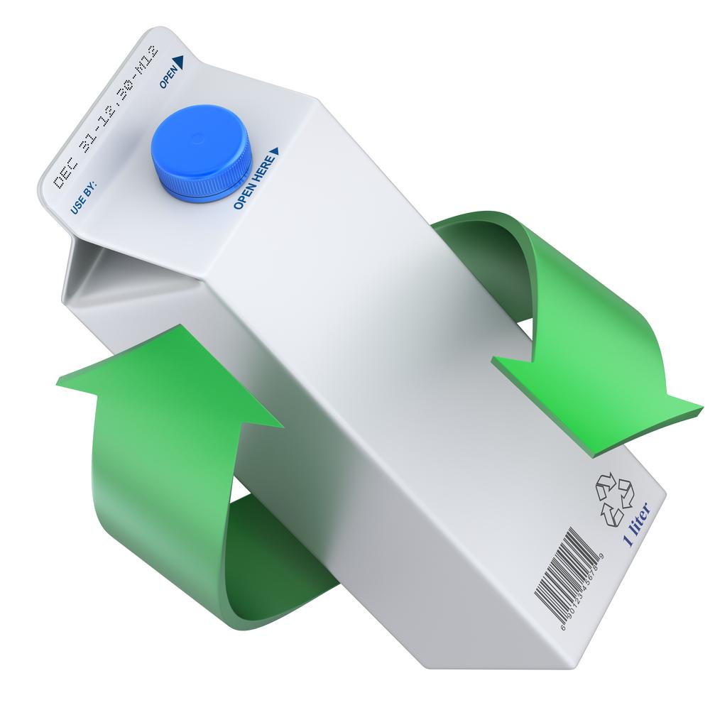 melkpakken plastic afval