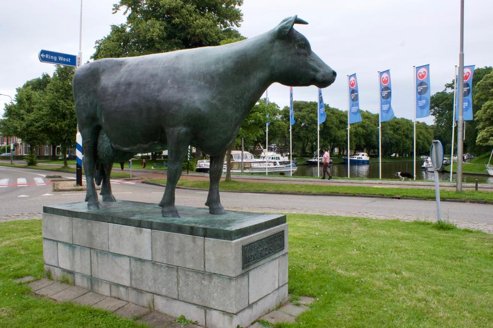 Koeienkunst: het standbeeld Ús Mem