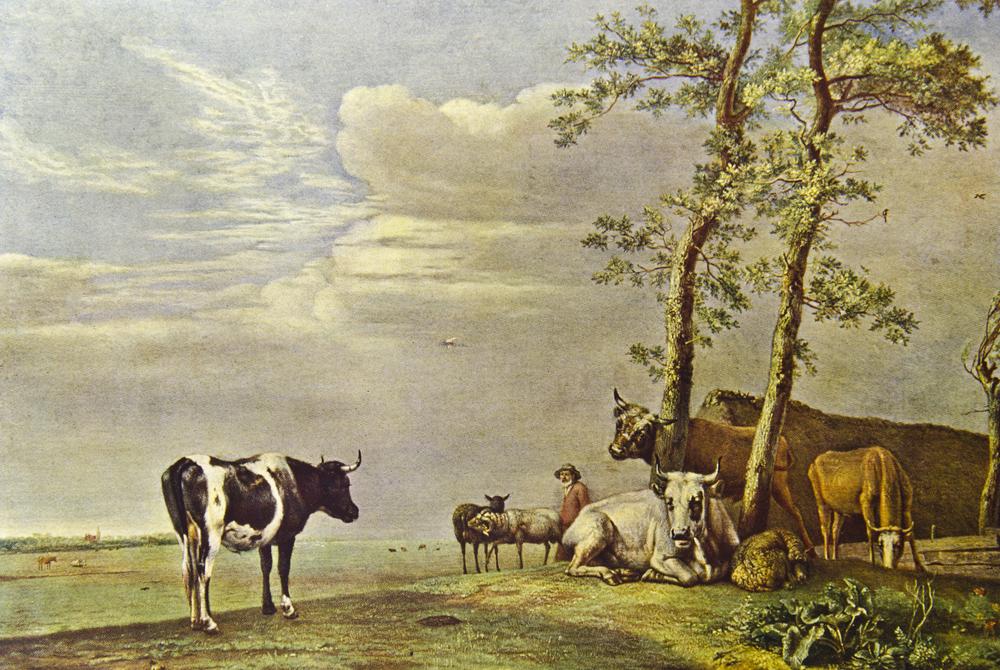Koeien in de kunst: Koeien in de wei van Paulus Potter